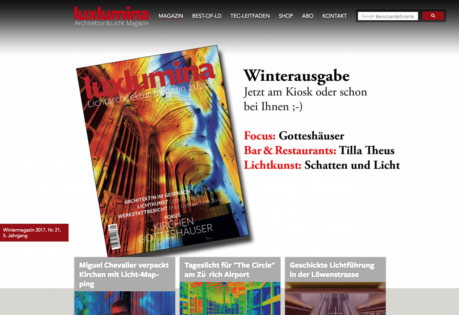 Luxumina 21 - Winter-Ausgabe